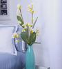 Fourwalls White & Yellow Polyethylene Artificial Frangipani Flowers