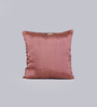 Foyer Wine Taffeta 16 x 16 Inch Loop Cushion Cover