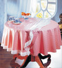 Freelance Pink PVC Checkered 108x60 INCH Table Cover