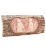 Furncoms Multicolour Wooden Twin Monkey Wall Accent