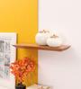 Furnicheer Brown Mango Wood Subhan Wall Shelf