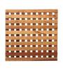 Furnicheer Brown Mango Wood 9 x 9 x 0.6 Inch Trivet