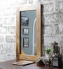 Furniselan Teak Mango Wood Framed Mirror