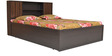 Crysler King Bed with Top Storage in Wenge Colour by Crystal Furnitech