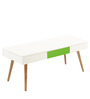 Gama Coffee Table in White Colour by @home