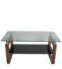 Wooden & Glass Center Table by Suvika Lifestyle