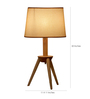 Glowbox Beige Fabric Table Lamp