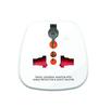 GM White 3.3 x 2 x 2.6 Inch 3 Pin Universal Travel Adaptor
