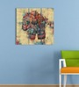 Go Hooked MDF 18 x 18 Inch 3-Panel Art Elephant Wall Decor