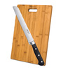 Godrej Cartini Black & Brown Stainless Steel Bread Knife Bamboo Chopping Board