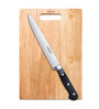 Godrej Cartini Black & Brown Stainless Steel Professional Carving Knife with Rubberwood Chopping Board