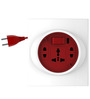 Goldmedal G-Smart Red and White 10 Ampere 8.4 x 6.8 x 2 Inch 2-pin Extension Cord