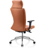 Grace High Back Executive Chair in Orange PU by Oblique
