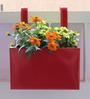 Green Gardenia Railing Square Box Planter (Plain Small)