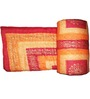 GRJ India Sanganeri Print Orange Cotton Ethnic Single Razai