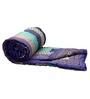 GRJ India Jaipuri Traditional Purple Cotton Ethnic Double Quilt