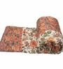 GRJ India Traditional Mughal Design Jaipuri Cotton Floral Double Quilt