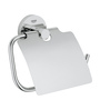 Grohe Essentials Silver Stainless Steel 1.7 x 4.7 x 6.6 Inch Toilet Paper Holder with Cover