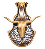 Handecor Bull Head Brass 5 x 1 x 6.5 Inch Door Knocker