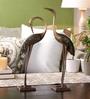 Handecor Multicolour Brass Love Cranes Pair Showpiece