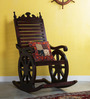 Harold Rocking Chair in Passion Mahogany Finish by Amberville