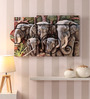 Hashtag Decor Engineered Wood 30 x 18 Inch Elephant in Mold Framed Art Panel