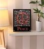 Hashtag Decor Wooden 8 x 10 Inch Peace Framed Digital Print