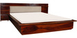 Elkhorn Queen Bed with Bed Side Tables in Honey Oak Finish by Woodsworth
