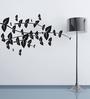 Highbeam Studio Black Self Adhesive Polyvinyl Film Crisscross Branches Wall Decal