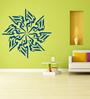 Highbeam Studio Blue Self Adhesive Poly Vinyl Film Allah-O-Akbar Islamic Wall Decal