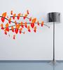 Highbeam Studio Multicolour Self Adhesive Polyvinyl Film Crisscross Branches Wall Decal