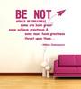 Highbeam Studio Pink Self Adhesive Polyvinyl Film Shakespeare Quote Wall Decal