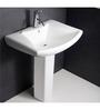 Hindware Opal White Ceramic Full Pedestal Wash Basin 10082