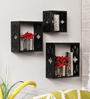 Institute Eclectic Wall Shelves Set of 3 in Black by Bohemiana
