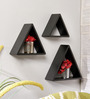 Marita Contemporary Wall Shelves Set of 3 in Black by CasaCraft