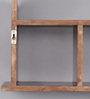 Sao Luis Contemporary Wall Shelf in Brown by CasaCraft
