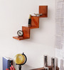 Venus Contemporary Wall Shelf in Brown by CasaCraft