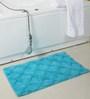Homefurry Blue Cotton Riggy Waffle Door Mat