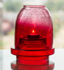 Homesake Red Glass Half Crackle Shimmering Light Box