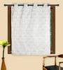 HomeStop Steel Poly Jacquard 48 x 60 Inch Ivy Window Curtain - Set of 2