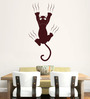 Hoopoe Decor Brown Vinyl Cat on Wall Wall Decal