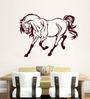 Hoopoe Decor Vinyl Horse Enjoys Running Wall Sticker