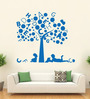 Hoopoe Decor Vinyl Kids Studying under Alphabet Tree Wall Sticker
