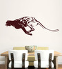 Hoopoe Decor Brown Vinyl Running Panther Wall Decal