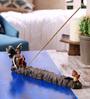 Hosley Blue Resin Decorative Fairy Incense Holder
