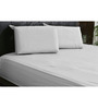 HotHaat White Cotton Solid Double Fitted Sheet (with Pillow Covers) - Set of 3