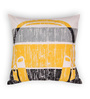 House This Yellow Cotton 16 x 16 Inch Gadgets-Headphones Cushion Cover