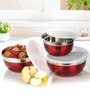Ideale Prep & Store Red Bowl Set Of 3