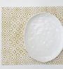 IkkaDukka Marnie Mustard Cotton Placemats - Set of 4