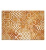 Imperial Knots Rust Wool 96 x 60 Inch Patch Dip Dyed Handtufted Carpet